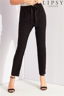 Lipsy Satin Tie Front Trousers