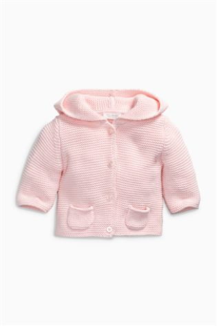 Buy Pink Hooded Cardigan (0mths-2yrs) from Next USA