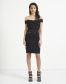 Lipsy Love Michelle Keegan Bardot Satin Panelled Bodycon Dress