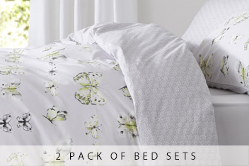 2 Pack Floral Butterfly Bed Set