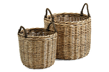 Set Of 2 Natural Willow Large Baskets