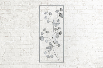 Butterfly Floral Plaque