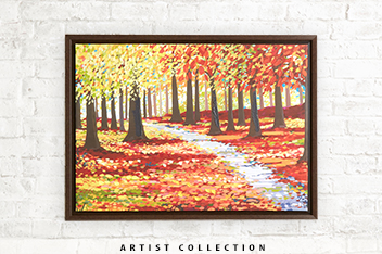 Artist Collection Autumn Landscape by Janet Bell Frame