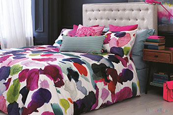 Bluebellgrey Abstract Bed Set