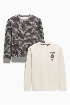 Camo Sweats Tops Two Pack (3-16yrs)