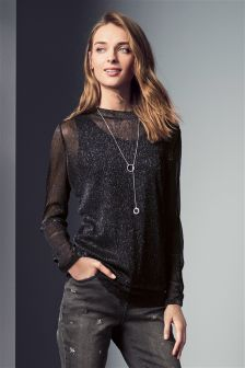Lace Sparkle Layer Top
