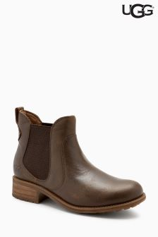 UGG® Brown LaVelle Zip Chelsea Ankle Boot