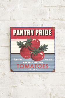 Pantry Pride Tomatoes Tin Plaque