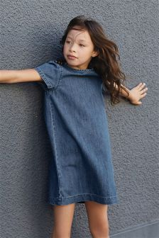 Denim Military Dress (3-16yrs)