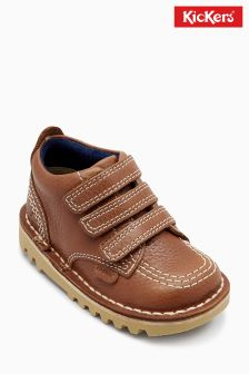 Kickers® Tan Kick Hi Triple Strap Boot