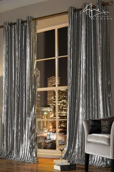 Серебристые шторы Kylie Iliana