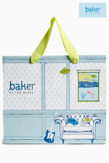 Baker By Ted Baker Blue Boys Gift Bag