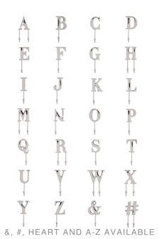 Metalowe haczyki alfabetyczne z chromowanym wykończeniem