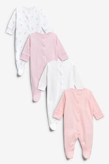 Pack de cuatro pijamas tipo pelele (0 meses-2 años)
