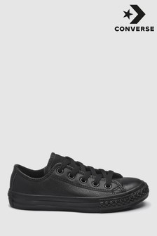 Converse Black Leather Chuck Taylor Ox Lo