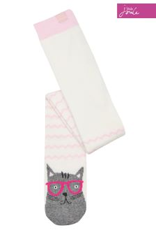 Joules Pink Cat Character Tights