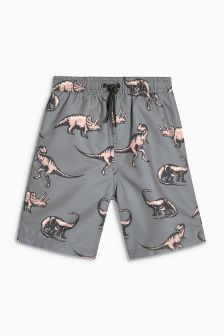 Dino Print Swim Shorts (3-16yrs)