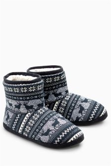 Reindeer Fairisle Pattern Boot