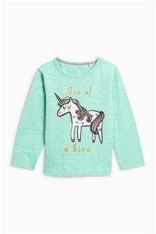 独角兽长袖上衣 (3个月-6岁)