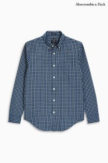 Abercrombie & Fitch Navy/White Check Shirt