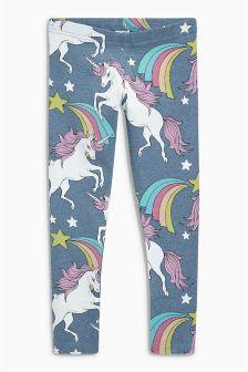 Unicorn Print Leggings (3-16yrs)