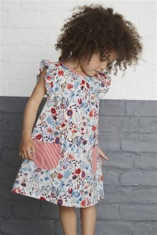 Floral Cotton Dress (3mths-6yrs)