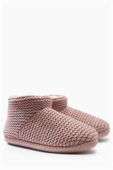 Knitted Boot Slippers
