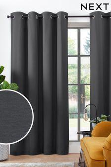 Хлопковые шторы с подкладкой и люверсами Studio Collection By Next