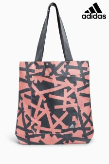 adidas Grey/Peach Printed Shopper Bag