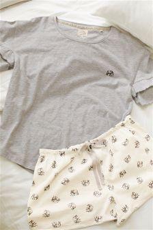 Cotton Elephant Shorts Set