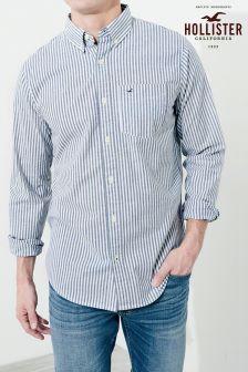 Hollister Blue Stripe Oxford Shirt