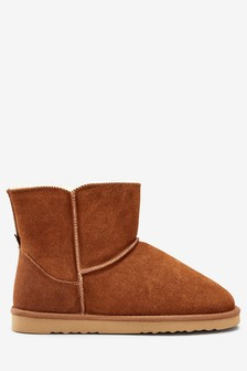Suede Slipper Boots