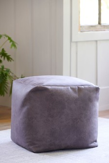 Monza Faux Leather Charcoal Cube