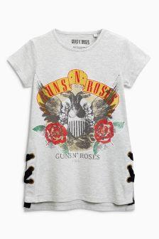 Koszulka Guns N Roses z krótkim rękawem i wiązaniem z boku (3-16 lat)
