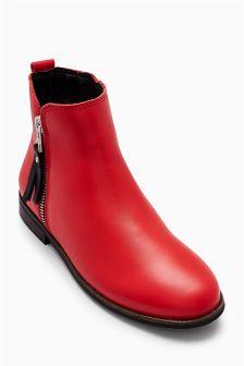 Leather Zip Chelsea Boots (Older Girls)