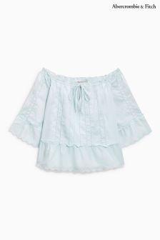 Abercrombie & Fitch Light Blue Oversize Shirt