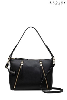 Radley Black Fountain Road Medium Zip Top Multiway Bag