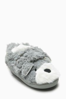 Bear Cupsole Slippers (Younger Girls)