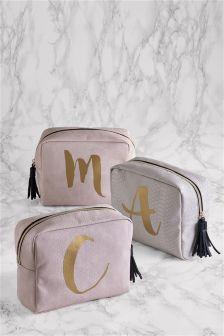 Large Initial Make Up Bag