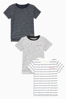 Embroidery Short Sleeve T-Shirts Three Pack (3mths-6yrs)