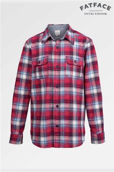 Fat Face Lava Dylan Brushed Check Shirt