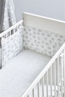 Happy Elephants Cot Bumper