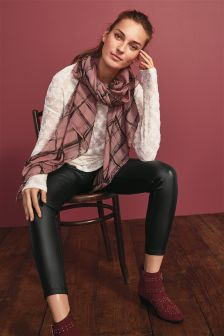 Burnout Scarf Layer Top