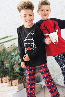 Check Santa Pyjamas (3-16yrs)