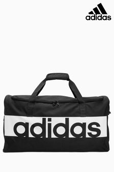 adidas Black Logo Duffle Bag