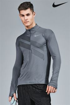 Nike Run Armoury Blue Element Graphic 1/2 Zip Top