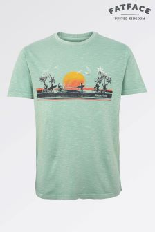 Fat Face Freshmint Sunset Strip Graphic Tee