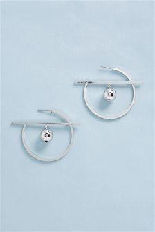 Inner Sphere Hoop Earrings