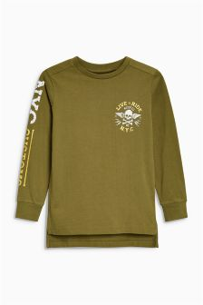 Long Sleeve Front And Back Graphic T-Shirt (3-16yrs)