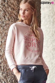 Superdry 90s Baby Pink Athl. League Sweat Crew